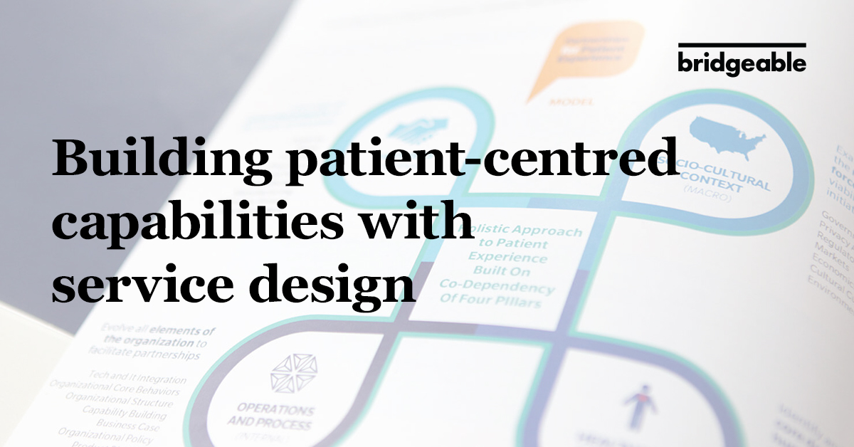 Building patient-centered capabilities with service design